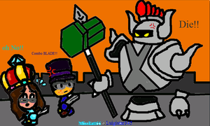 Collab: Find mii 2 - VS Armored Archfiend by Misskatt66