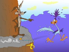 Wile E.'s Prank by MatthewHunter