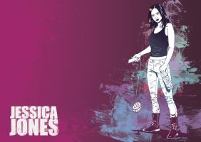 Jessica Jones A3 Print Alt by Jesterman