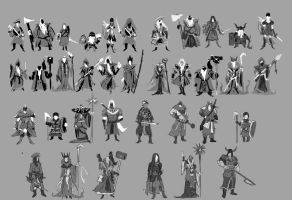 a different kind of character desgin thumbnails by yen-wen-hsieh