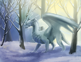 Winter Dragon by Elzux