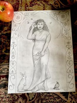 The Lady of the Apple Orchards by Sidhe-Etain