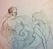 Stream of consciousness #ddf2014 #art #warmup by SylvanCreatures