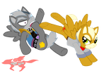 Fox Vs. Wolf ::MLP STYLE:: by StarFox-Saiyan