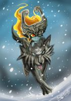Midna and Wolf Link by JFRteam