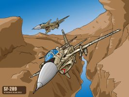 SF-289 canyon flight by TheXHS