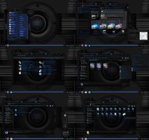 windows 7 theme dark blue onix by tono3022