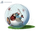 Daily Paint #1108. Battle Hamster by Cryptid-Creations