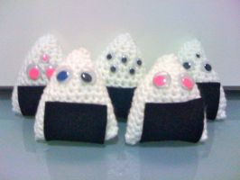 Monster Onigiri by LunarJadeStyles