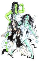 She Hulk Transformation IV by raccoon-eyes