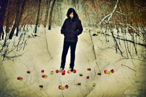 Winter Apple Garden. by by-gi
