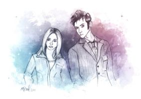 The Doctor and Rose by ichabod1799