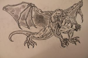 First Dragon drawing by flaviudraghis