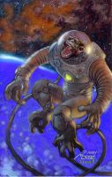 cosmic monkey by moritat