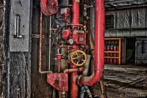 Red pipes by DeviantMotiv