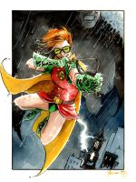 Carrie Kelley Robin and Batman by DanielGovar
