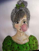 Bubble gum by Bloody-Sweet