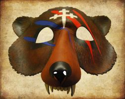 Leather Bear Mask with War Paint - View 2 by ContessaEsselia