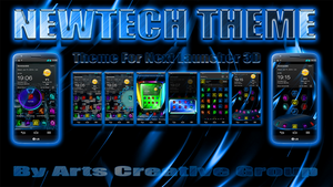 Next Launcher 3D Theme: NEWTECH 2Dn3D by ArtsCreativeGroup