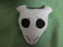 Mewtwo inspired head pillow front by kaistermaister