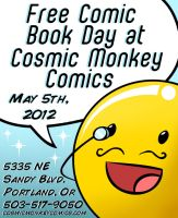 FCBD at COSMIC MONKEY COMICS 2012 by ChibiCelina