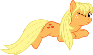 Applejack wild hair by UP1TER