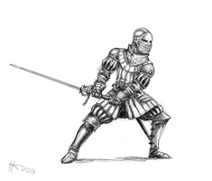Fencer by Thylacinee