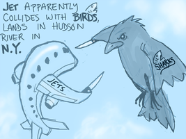Jets vs Sharks by angryzenmaster