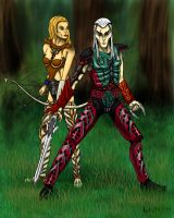 Sacred Elves -colour- by Kalia24