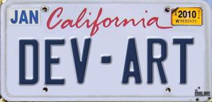 Deviant Art License Plates by TheCarloos