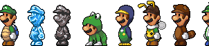 Luigi Power-ups by Pokekoks