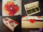 Poppy Teabox Decoupage by Shadowisper