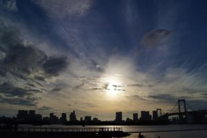 Evening sky over Tokyo by God-KingTaupo