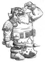 Killgore the Dwarf by ReillyBrown