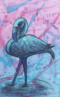 Concentration Piece 2: Flamingo Blues by knsmith0110