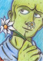 Flowering Nose sketch card - for 10th-letter by Kweh-chan