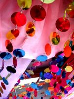 Colorful 'Cling' Circles by flysophia