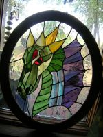 Stained Glass Dragon Panel by LCheek