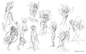 Dryad sketches by Rocky-O