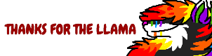 THANKS FOR THE LLAMA logo by xRainbowDawnx