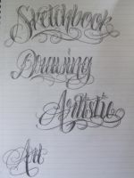 Art Lettering by 12KathyLees12