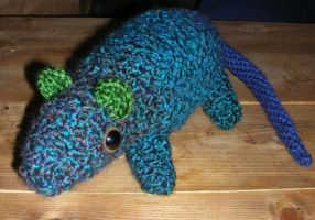 Crocheted Rat for Whit by Eliea