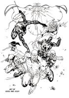 New Avengers final inks by SpiderGuile