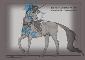 SantiniGraphics Lineart Commission by Darya87