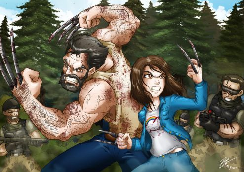 Last Stand (Logan and Laura) by Kraus-Illustration