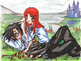 HP: harry-ginny relaxin' by enitenit