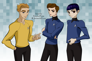 Kirk, Bones, and Spock by FumetsuShinju