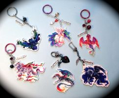 Sample Keychains With Charms by Lucky978