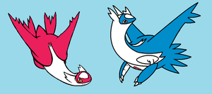 Latias and Latios by RockehJamaa