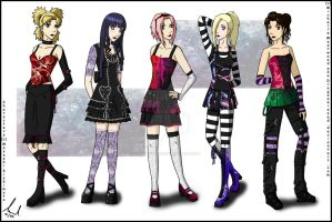 Gothic Series: Girls by DragonKissed